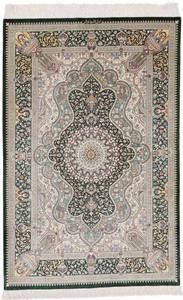 5x3 silk 900kpsi qum persian carpet