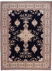 13x9 arebov silk tabriz persian rug