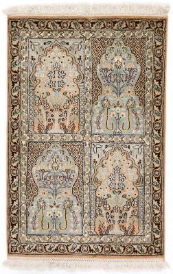 3x2 tile pattern silk kashmir persian carpet