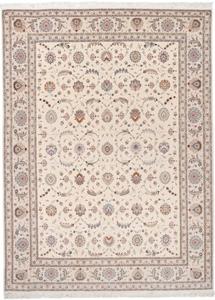 signed 13x9 faraji silk tabriz persian rug