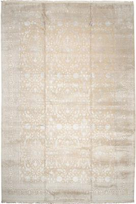 17x12 wool persian rug with silk highlights