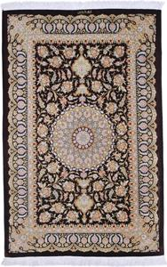 Pure Silk 5x3 Qum Persian rug