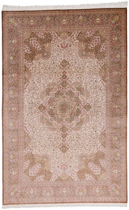 10x7 700KPSI handmade pure silk Qum Persian rug