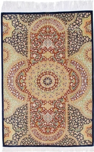 6x4 silk 700kpsi qum persian carpet
