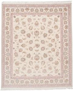 signed 9x8 faraji silk tabriz persian rug
