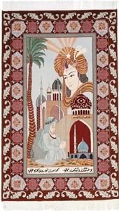 5x3 pictorial hafez tabriz rug