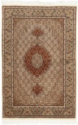 5x3 mahi tabriz persian rug with silk