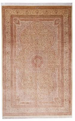 9x6 800 kpsi pure silk Qum Persian rug