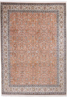 11x8 pastel color silk kashmir persian rug