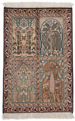 3x2 high quality silk kashmir persian carpet