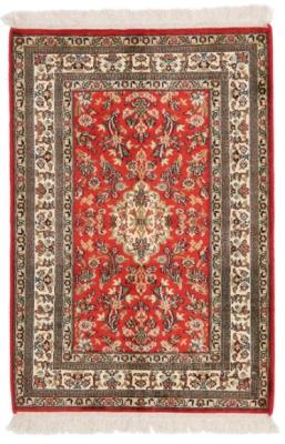 3x2 red silk kashmir persian rug