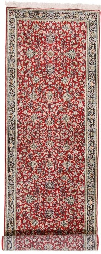10x2 red kashmir silk rug runner