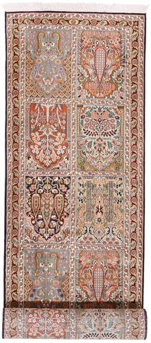 10x2 tile design kashmir silk rug runner