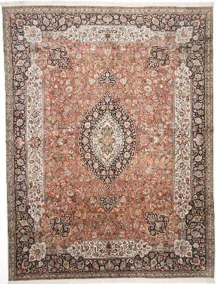 12x9 handmade silk kashmir persian rug