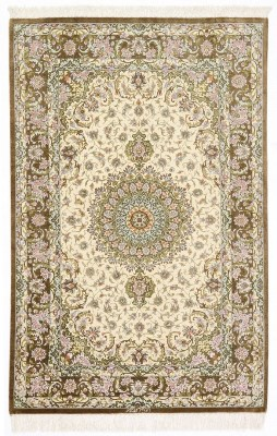 5x3 Pure Silk Qum Persian rug