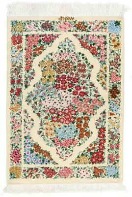 3x2 750kpsi genuine silk qum rug