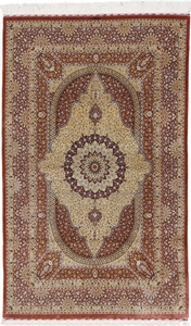 6x4 silk 750kpsi qum persian carpet