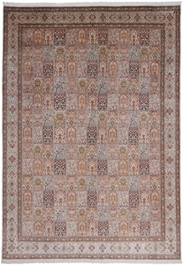 13x10 handmade silk kashmir persian rug
