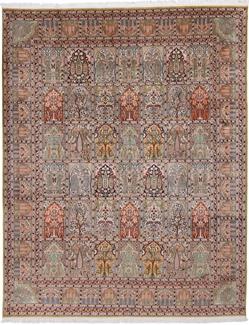 10x8 Silk Kashmir Persian rug