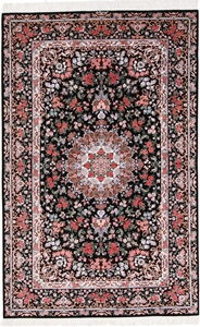 Pure Silk Qum Persian rug