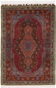 jamshidi qum persian rug 1400kpsi silk