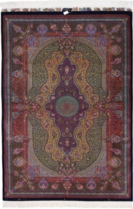 jamshidi qum persian carpet 1400kpsi silk