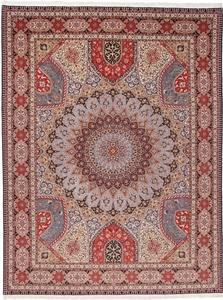 13x10 400kpsi silk gonbad tabriz rug