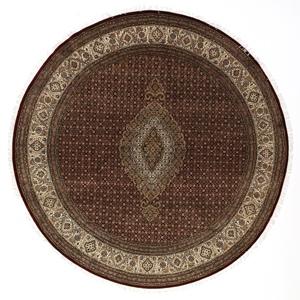 8x8 round wool mahi persian rug