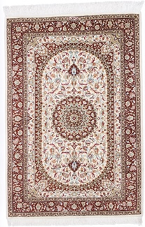 4x3 silk fine qum persian rug