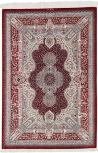 4x3 silk qum persian rug