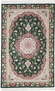 3x2 Pure Silk Qum Persian rug