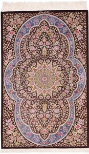 4x3 750kpsi silk qum persian rug