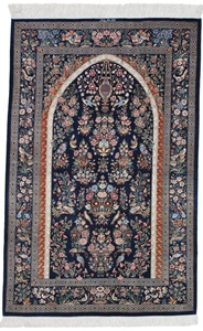 650 KPSI Tree-of-Life Pictorial Pure Silk Qum Persian rug