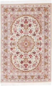 Pure Silk Qum Persian rug