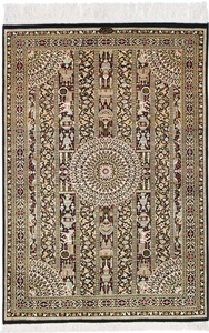 3x2 600kpsi silk qum carpet