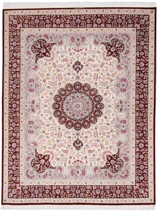 8x6 qum persian carpet silk
