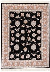 6x4 55raj black tabriz rug