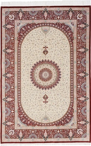 6x4 silk 400kpsi qum persian carpet
