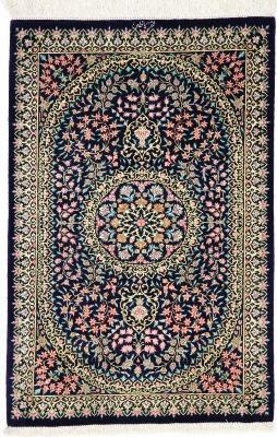 3x2 750KPSI silk qum Persian rug, signed qom carpet