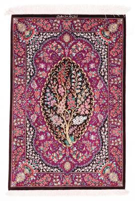 3x2 800kpsi silk qom persian rug
