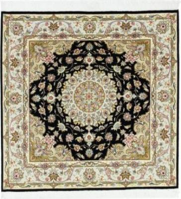 5x5 square tabriz persian rug