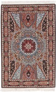 55raj twin gonbad tabriz rug