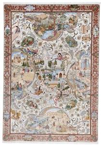 11x8 625kpsi 70raj pictorial tabriz persian rug