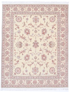 8x6 Tabriz Persian Rug with silk