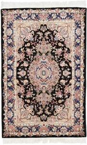 5x3 60raj silk tabriz persian rug