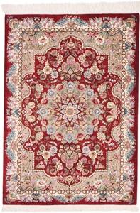 3x2 Pure Silk Qum Persian rug