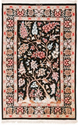 5x3 pictorial tree of life qum persian rug