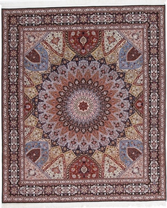 10x8 gonbad tabriz rug with silk