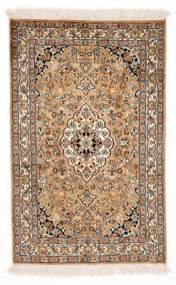 3x2 light brown silk kashmir persian carpet