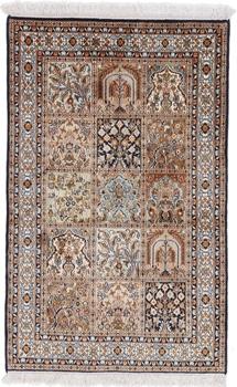 4x2 handmade silk keshmir persian carpet